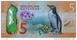 NEW ZEALAND P. 191 5 D 2015 UNC - Nuova Zelanda