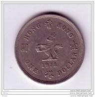##1, Hong Kong, 1978, 1 Dollar, Lion, Félin - Hongkong