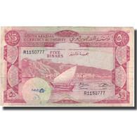 Billet, Yemen Democratic Republic, 5 Dinars, Undated (1965), KM:4b, TB+ - Arabie Saoudite