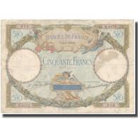 France, 50 Francs, Luc Olivier Merson, 1929, 1929-06-18, TB, Fayette:15.2 - 1871-1952 Antichi Franchi Circolanti Nel XX Secolo