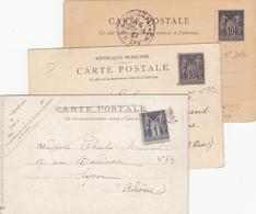 N°83 N°89 ET N°103 SUR 3 CP TIMBRE NON OBLITERE - Marcophilie (Lettres)
