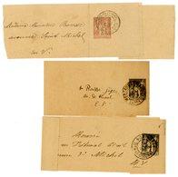 TARN ET GARONNE BJ X 3  1887 ET 1890 1C SAGE . 189? 2C SAGE TOUS MONTAUBAN - Postmark Collection (Covers)