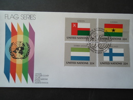 UNITED NATIONS   FDC FLAG FLAGS - Buste