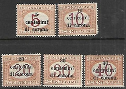 Austria Occupation Of Trieste  1919   NJ8-12 MLH  (NJ9 Spacefiller Not Counted)  2016 Scott Value $14.50 - 1850-1918 Imperium