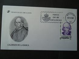 SPAIN FDC 1982  CALDERON DE LA BARCA - FDC