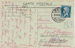 1926- C P A De Paris  Affr. Pasteur 75 C SEUL  Oblit. De BERN ( Suisse ) - Postmark Collection (Covers)