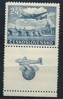1946 Czechoslovakia MNH - Mi 492 Zf. ** MNH - Flugpost • Airmail • Poste Aérienne - PLANE , AVION - Airmail