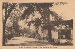I18- 47) PONT DU CASSE (LOT ET GARONNE) LA MAIRIE ET LES ECOLES - (ANIMEE - 2 SCANS) - France