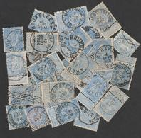 1 Centaine Exp. COB N° 60 - TB Lot Pour Reconstitution Planches; Nuances; Variétés; Oblitérations.... - 1893-1900 Thin Beard