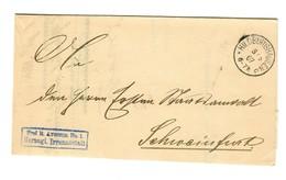 1907 Frei Herzogliche Irrenanstalt Hildburghausen Nach Schweinfurt - Germania