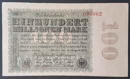 FA - Germany 1923 100 Mark Banknote DB-2 095062 - [ 3] 1918-1933 : República De Weimar
