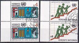UNO WIEN 1980 Mi-Nr. 14/15 2er O Used - Aus Abo - Wien - Internationales Zentrum