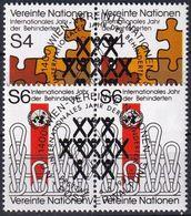UNO WIEN 1981 Mi-Nr. 17/18 2er O Used - Aus Abo - Wien - Internationales Zentrum