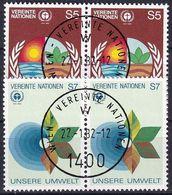 UNO WIEN 1982 Mi-Nr. 24/25 2er O Used - Aus Abo - Centre International De Vienne