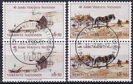 UNO WIEN 1985 Mi-Nr. 51/52 2er O Used - Aus Abo - Wien - Internationales Zentrum