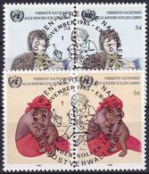 UNO WIEN 1985 Mi-Nr. 53/54 2er O Used - Aus Abo - Centre International De Vienne