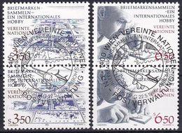 UNO WIEN 1986 Mi-Nr. 60/61 2er O Used - Aus Abo - Wien - Internationales Zentrum