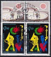 UNO WIEN 1989 Mi-Nr. 94/95 2er O Used - Aus Abo - Wien - Internationales Zentrum