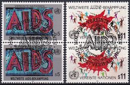 UNO WIEN 1990 Mi-Nr. 100/01 2er O Used - Aus Abo - Wien - Internationales Zentrum