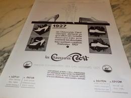 ANCIENNE PUBLICITE CHAUSSURE CECIL  1927 - Autres