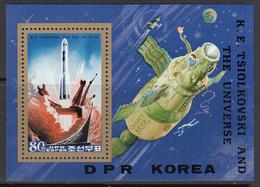 1984 North Korea DPR  Tsiolkovski Space Science  Complete Souvenir  Sheet MNH - Ruimtevaart