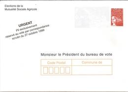 2---Marianne De Luquet La Poste  Entier Postal    TSC  Elections De La Mutualité Sociale Agricole - Unclassified