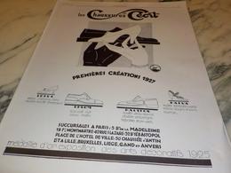 ANCIENNE PUBLICITE PREMIERE CREATION CHAUSSURE CECIL  1927 - Autres