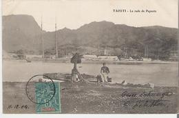 TAHITI. CPA Voyagée En 1904 La Rade De Papeete Au Dos Beau Cachet Ecole Primaire Supérieure De Papeete - Polynésie Française