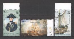 E026 SOLOMON ISLANDS SHIPS & BOATS LORD NELSON WAR BATTLE OF TRAFALGAR 1SET !!! MICHEL 11 EURO !!! MNH - Barche