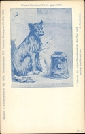 Artiste Lithographie Kührner, C., Hund Und Katze Bitten Um Eine Spende Für Den Wiener Tierschutzverein - Animaux & Faune