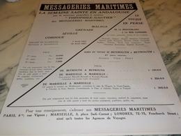 ANCIENNE PUBLICITE CROISIERE MESSAGERIE MARITIMES 1927 - Bateaux