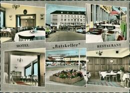 Saarlouis Hotel Restaurant Ratskeller Innen & Außen Ansichten 1960 - Germany