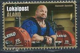 Aland 2014 N° 394 Oblitéré Sport Haltérophilie - Aland