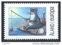 Aland 2014 N° 393 Neuf été, Chat Pécheur - Aland