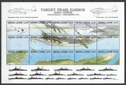 PK232 SIERRA LEONE MILITARY & WAR AVIATION PEARL HARBOR 1SH MNH - Guerre Mondiale (Seconde)