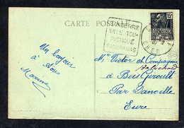 MAURY N° 270: S/CPI 5 MOTS - 1931  - OM DAGUIN - (DEPT Du CHER): SANCERRE VILLE TOURISTIQUE PANORAMAS - Marcophilie (Lettres)