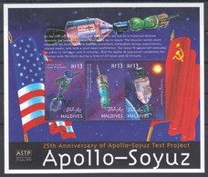 PK248 MALDIVES SPACE APOLLO-SOYUZ TEST PROJECT 1KB MNH - Other