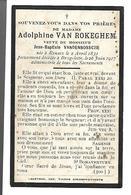 Carte Décès Adolphine Van Rokeghem, Veuve Jean-Baptiste Vandenbossche. Renaix, Brugelette. 1831-1917 - Décès