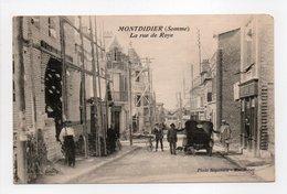 - CPA MONTDIDIER (80) - La Rue De Roye (avec Personnages) - Photo Régionale - - Montdidier