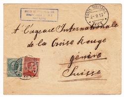 Smyrne Izmir Σμύρνη Turquie 1919 Genève Suisse Croix Rouge Censure Censura Prisonnier De Guerre - WO1