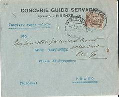 PISTOIA/PRATO 7-5-26 LETTERA CAMPIONI SENZA VALORE VITT. EM. CENT 40 - 1900-44 Vittorio Emanuele III