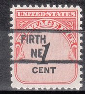 USA Precancel Vorausentwertung Preo, Locals Nebraska, Firth 841 - Vereinigte Staaten
