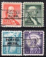 USA Precancel Vorausentwertung Preo, Locals Nebraska, Foster 728, 4 Diff. - Vereinigte Staaten