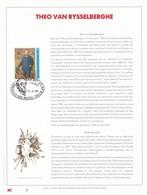 Exemplaire N°1 Feuillet Tirage Limité 500 Exemplaires Frappe Or Fin 23 Carats 2627 Theo Van Rysselberghe - Feuillets De Luxe