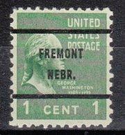USA Precancel Vorausentwertung Preo, Bureau Nebraska, Fremont 804-61 - Vereinigte Staaten