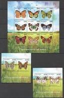 PK285 2014 GAMBIA FAUNA BUTTERFLIES OF THE WORLD 1KB+2BL MNH - Schmetterlinge