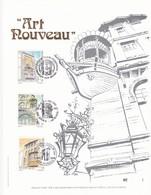 Exemplaire N°1 Feuillet Tirage Limité 500 Exemplaires Frappe Or Fin 23 Carats 2604 2606 Art Nouveau - Feuillets