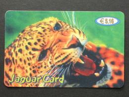 *ITALY* USATA USED - INTERNATIONAL PREPAID PHONE CARD - JAGUAR CARD - Italia