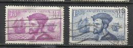 6248-SERIE COMPLETA FRANCIA 1934 Nº296/7 USADOS JACQUES CARTIER NAVEGACION BARCOS NAVEGANTES. - Francia