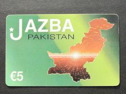 *ITALY* USATA USED - INTERNATIONAL PREPAID PHONE CARD - JAZBA PAKISTAN - Italia
